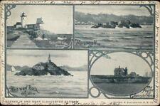 Gloucester MA Lighthouses Multi-View c1905 Postcard