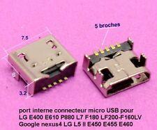 port micro USB 5 pin LG E400 E610 P880 L7 F180 LF200-F160LV Google nexus4 .C63.1