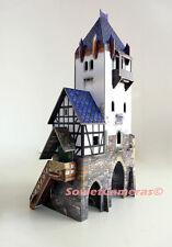 Building WATCHTOWER Medieval Town War Games Terrain Scenery Cardboard Model Kit