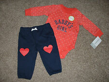 Carter's Baby Daddy's Girl Outfit Set Size 3M 3 Months NWT NEW 0-3 mos Clothes