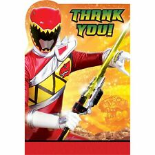 Power Rangers Dino Charge Saban Ninja Kids Birthday Party Thank You Notes Cards