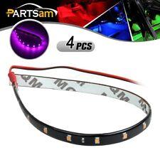 "4x 30cm 12"" Pink / Purple Bulb 15 LED SMD 3528 SMD Flexible Strip Light Neon Bar"