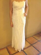 Jasmine Haute Couture Size 8 Ivory Sweetheart Hand Sewn Detail Wedding Dress NEW