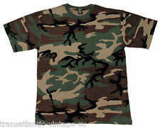 T-shirt MFH US Woodland in Taglia M (00103tm)