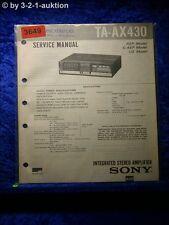 Sony Service Manual TA AX430 Amplifier (#3649)