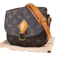 Auth LOUIS VUITTON Mini Saint Cloud Shoulder Bag Monogram Brown M51244 80MA326