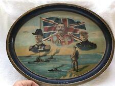 Very Rare World War 1 Tray, 1914, British Commanders
