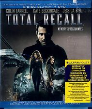 NEW BLU-RAY-DVD COMBO  // Total Recall // COLIN FARRELL, KATE BECKINSALE,