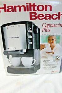 HAMILTON BEACH CAPPUCCINO PLUS ESPRESSO MAKER 40729 BARELY USED VERY NICE