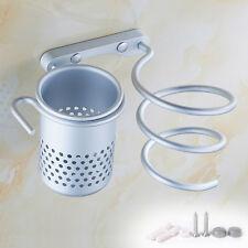 Neu Haartrocknerhalter Fönhalterung Haartrockner Wand Halter Stehen + Kamm Tasse