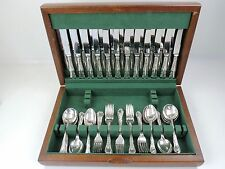 Boxed 72-piece DUBARRY 12 sittings SILVER CANTEEN SET of CUTLERY, Sheffield 1967
