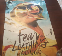 """FEAR AND LOATHING IN LAS VEGAS -  33"""" x 22"""" MOVIE POSTER"""