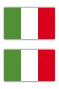 2x Aufkleber Sticker Italien Flagge Fahne Italia Tricolore Auto Motorrad etc 5cm