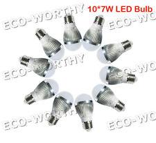 10*7W 70W E27 Cool White DC12V LED Bulb Lamp for Build Caravan Solar Lighting