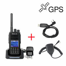 Retevis RT3 DMR UHF 1000 Kanal GPS Digital Analog Hand Funkgerät Radio+ USB+ Mic