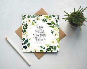 Card for Nana, Birthday card for Nana, Best Nana, Mothers day card UK (GC170)