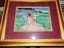 Bambi Walt Disney Serigraph 1990 Limited Edition Framed and Matted 20 x 24""