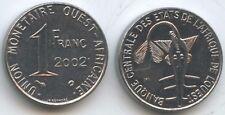 G5027 - Westafrikanische Staaten 1 Franc 2002 KM#8 XF-UNC Western African States