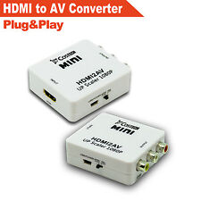 HDMI to AV/CVBS Composite Output HD1080p Video Converter Adapter with USB Cable