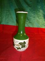 GDR DDR Vintage alte Blumenvase Wein Trauben grün weiß Goldrand Vase Porzellan