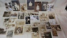 Lot of Antique photos kid in top hat Cabinet Card Photographs pictures