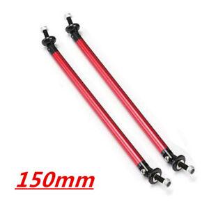 Red Adjustable Front Bumper Lip Splitter Strut Rod Tie Support Bar For Universal