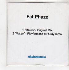 (FQ774) Fat Phaze, Mateo - DJ CD