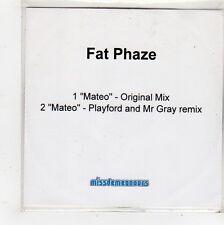 (FQ774) Fat Phaze, Mateo - DJ CD