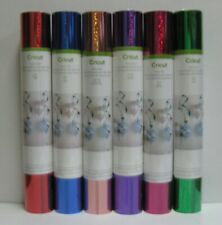 "6 ROLL LOT CRICUT PARTY FOIL 12 - 12"" x 48"" SHEETS (SOLID & HOLOGRAPHIC SPARKLE)"