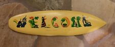"""Personalized Hawaii Design Name Art on hand carved Wood """"WELCOME"""" sign example"""