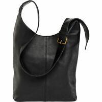 DULUTH TRADING Women's Lifetime Leather Crossbody Bag in Black-16
