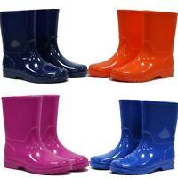 Kids Boys Girls Wellies Wellington Boots Rainy Boots Snow Winter Boots Sz 11- 2