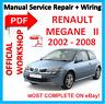 # OFFICIAL WORKSHOP MANUAL service repair FOR RENAULT MEGANE 2 2002 - 2008