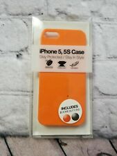 Apple iPhone 5/5S CASE Lightweight Orange Solid Skin Cover NEW Hard PROTECT