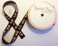 Bertie/'s Bows 16mm Ivory Grosgrain Label Ribbon ~ Baked With Love ~ Cake Making