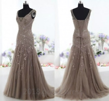 Actual Images Mermaid Mother of the Bride Dresses V Neck Beaded Evening Gown