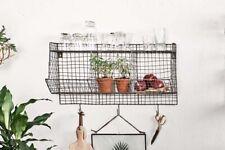Locker Room Shelf, Industrial Wire Rustic Hooks Storage Display Unit Nkuku Wall