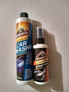 Armor All Ultra Shine Spray Wax And Armor All Purpose Car Wash 2 PC