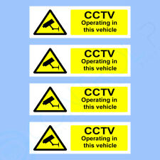 CCTV OPERATING IN THIS VEHICLE STICKERS - PACK OF 4 - CAR, VAN, TAXI