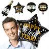 Xmas Decor Happy New Year 2020 Helium Foil Balloon Round Star Wine Bottle
