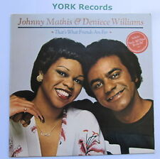 JOHNNY MATHIS & DENIECE WILLIAMS - That's What Friends Are For - Ex LP Record