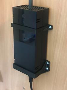 Xbox One Power Brick / Supply Wall Mount Bracket : Black