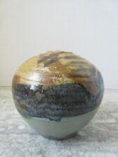 Old Vintage Signed Sherwood Studio Art Pottery Vase