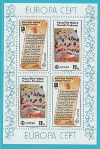 Türkisch Zypern Europa CEPT 1982 ** postfrisch Block 3 Historische Ereignisse