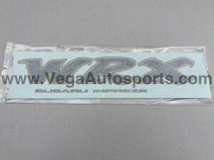 """Rear """"WRX"""" Decal Sticker White STi to suit Subaru Impreza GC8 93-01 Genuine"""