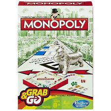 Hasbro Monopoly Original Clásico Viaje Compacto Juego de Mesa Familiar Grab & Go