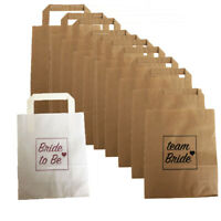 25 PACK HEN PARTY BAGS PAPER TEAM BRIDE & BRIDE TO BE GOODY FAVOUR BAG NIGHT DO