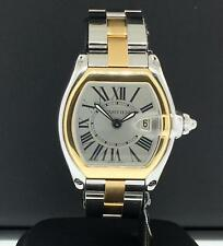 Cartier Roadster Two Tone 18k Yellow Gold & Stainless Steel 30mm W62031Y4