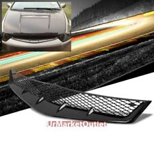 Black Type-R Mesh Style Replacement Front Grille For Honda 06-07 Civic Si Coupe