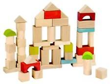 EverEarth™  50 Piece Wooden Building Blocks Shape Sorter 18m+ Wood Toy